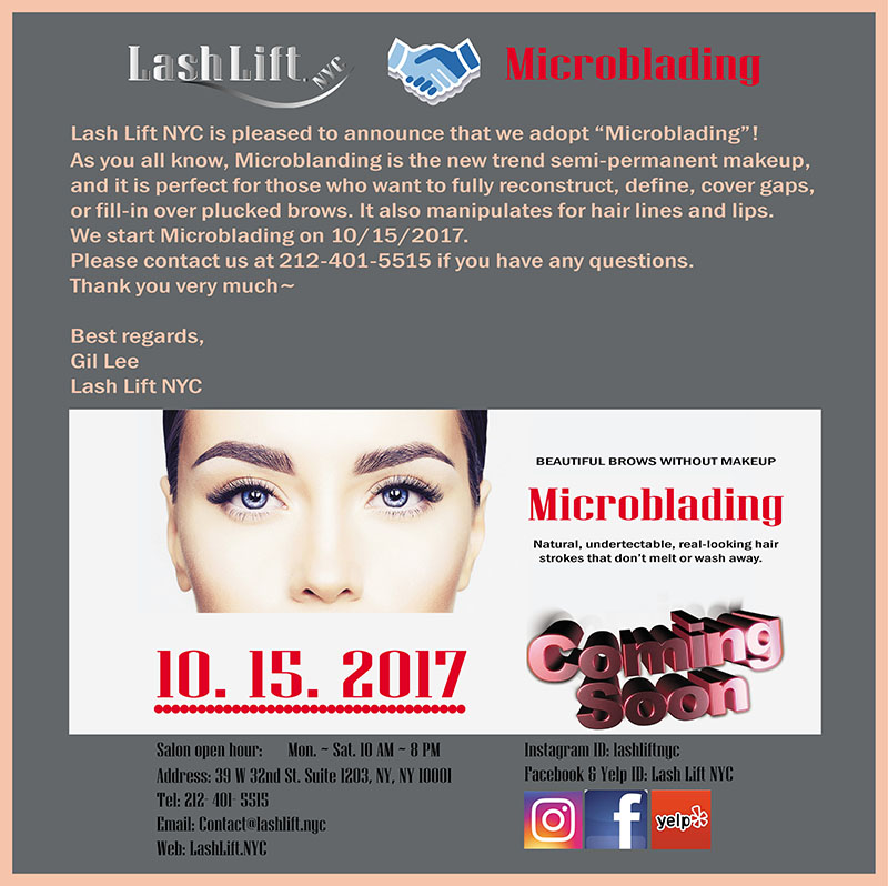 Microblading - Lashlift NYC